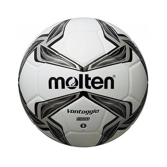 Thai Sports ฟุตบอล Molten หนังพีวีซี (PVC) หนังอัด ขนาดและน้ำหนักมาตรฐาน เบอร์ 5 สีขาว/เทา/ดำ รหัสสินค้า B2AF5V1500K