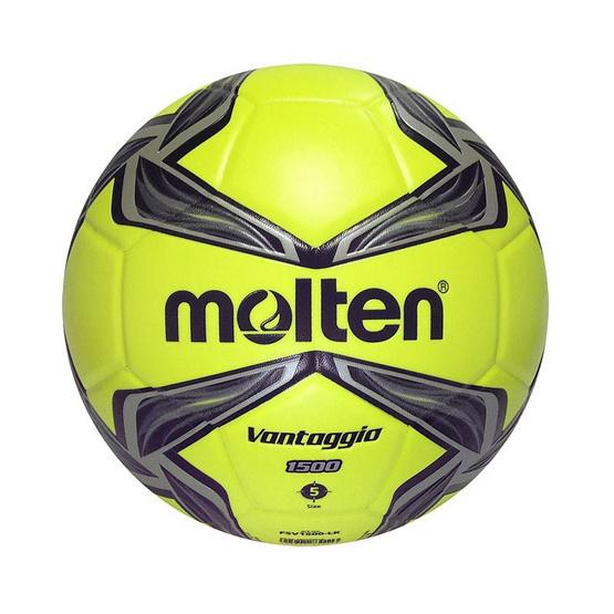 Thai Sports ฟุตบอล Molten หนังพีวีซี (PVC) หนังอัด ขนาดและน้ำหนักมาตรฐาน เบอร์ 5 สีมะนาว/เทา/ดำ รหัสสินค้า B2AF5V1500LK
