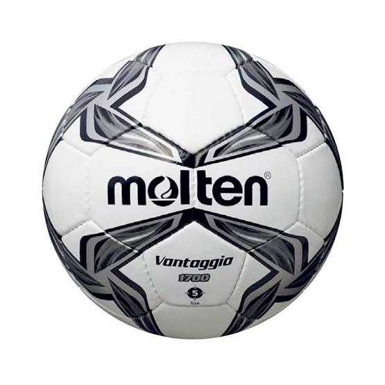Thai Sports ฟุตบอล Molten หนังพีวีซี (PVC) เย็บด้วยมือ ขนาดและน้ำหนักมาตรฐาน เบอร์ 5 สีขาว/เทา/ดำ รหัสสินค้า B2AF5V1700K