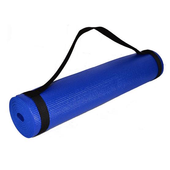 Thai Sports แผ่นรองโยคะ PVC 6 มม. พร้อมสายสะพาย สีน้ำเงิน รหัสสินค้า E2X7S091WBL
