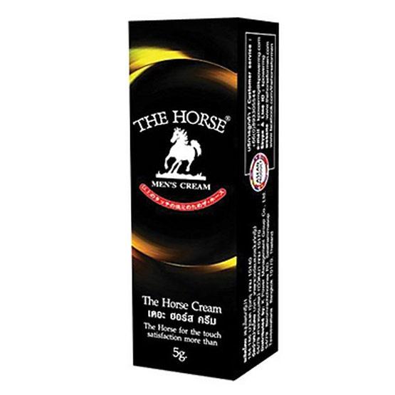 The Horse Cream ซื้อ 2 แถม 1 (เดอะฮอร์ส) ครีมบำรุงผิวและคงเวลาให้นานขึ้นสำหรับบุรุษ ขนาด 5 กรัม
