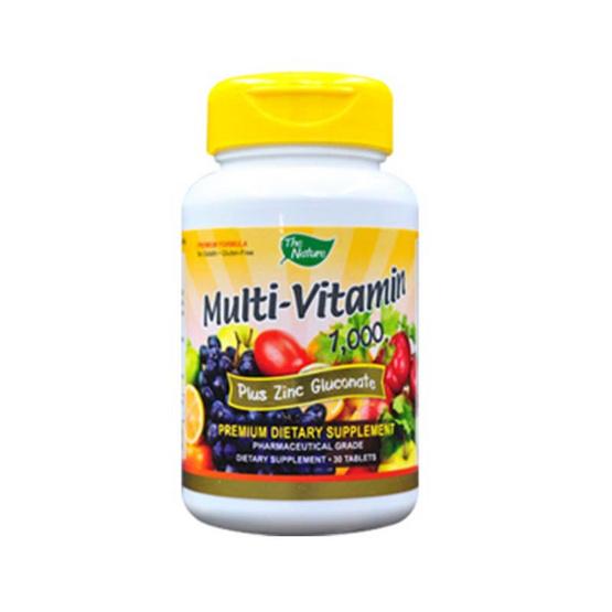 The Nature Multi Vitamins Plus Zinc มัลติวิตามิน เป็นวิตามินแร่ธาตุรวม บรรจุ 30 เม็ด