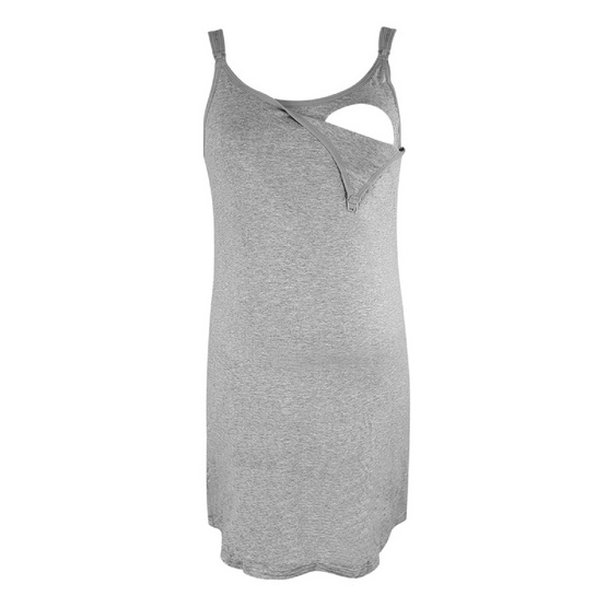 Threeangels Maternity Night Dress AT13-341D-GRAY-S