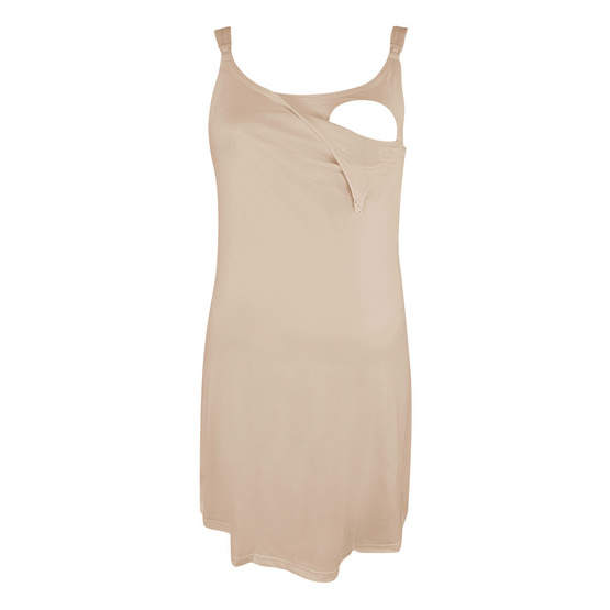 Threeangels Maternity Night Dress AT13-341D-NUDE-L