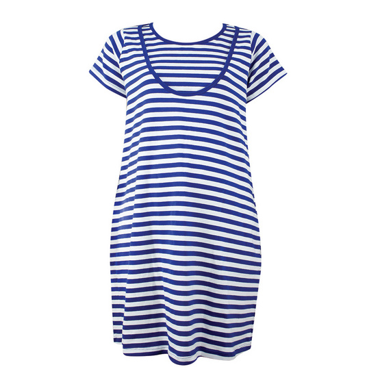 Threeangels Matrenity Dress AT15-366T-NAVY/WHITE-L