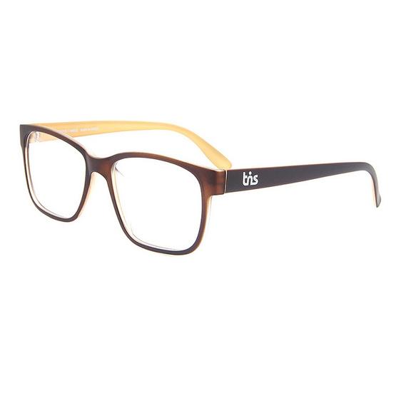 TiS กรอบแว่นตา รุ่น SN206-3 สีน้ำตาล
