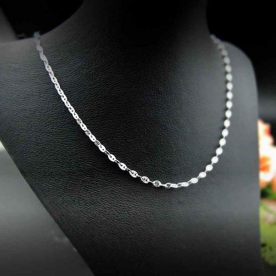 Trendy Diamond สร้อยคออิตาลีบีนส์ หุ้มเงินแท้