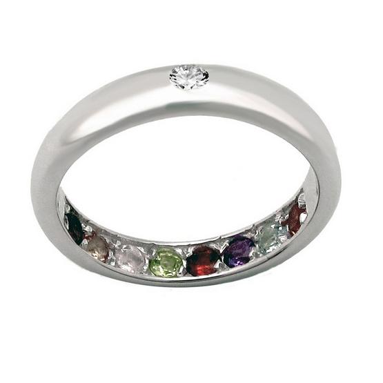 Trendy Diamond TSR166 แหวนพูนทรัพย์ แถมฟรี ต่างหูมุกน้ำจืดแท้ 8 มม. มูลค่า 650 บาท
