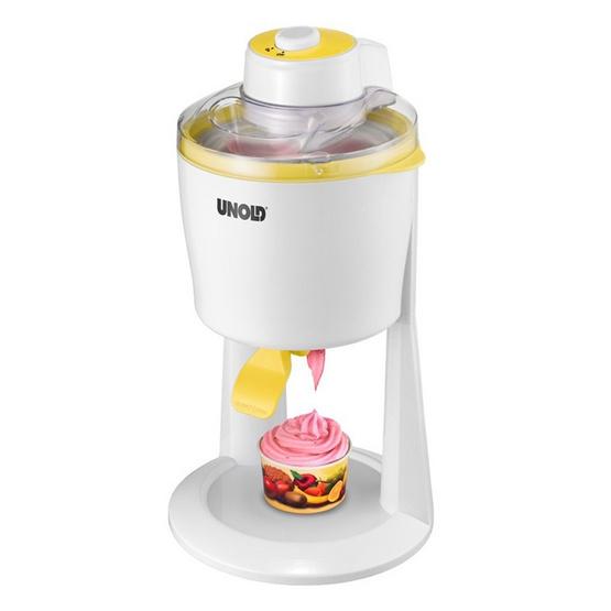 UNOLD เครื่องทำไอศครีม รุ่น 48860 (White/Yellow)