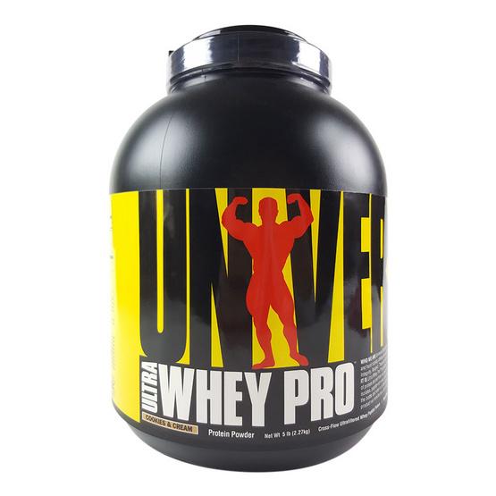 Universal Ultra Whey Pro Cookies & Cream 5 lb โปรตีนคุณภาพสูง เสริมสร้างกล้ามเนื้อ