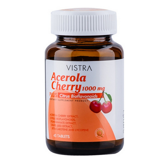 VISTRA Acerola Cherry 1000 mg. บรรจุ 45 เม็ด
