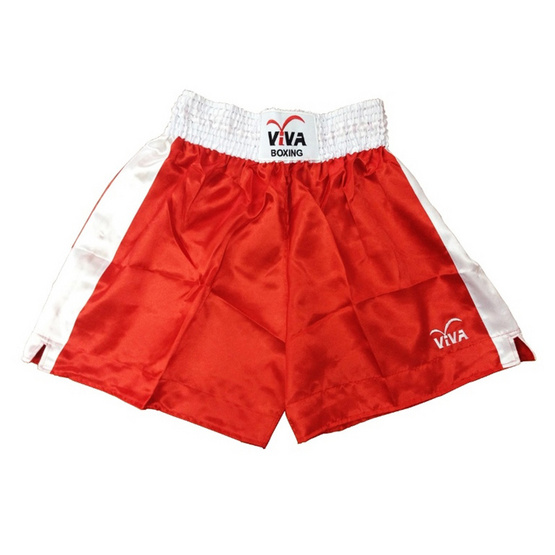 VIVA BOXING SHORTS กางเกงมวยสากลแข่งขัน SIZE: S สีแดง