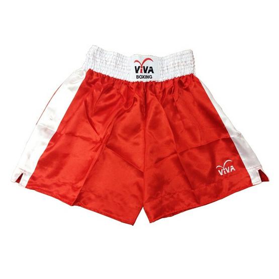 VIVA BOXING SHORTS กางเกงมวยสากลแข่งขัน SIZE: XL สีแดง
