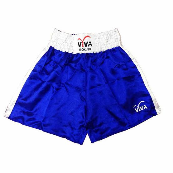 VIVA BOXING SHORTS กางเกงมวยสากลแข่งขัน SIZE: XL สีน้ำเงิน