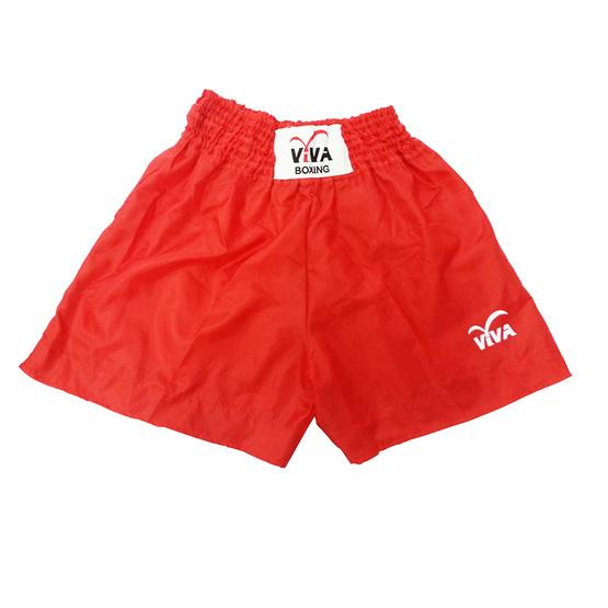VIVA BOXING SHORTS กางเกงมวยสากลผ้าร่ม-สกรีน VIVA SIZE: S สีแดง