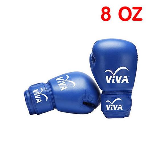 VIVA นวมมวยหนัง Micro Fiber 8 OZ. สีน้ำเงิน