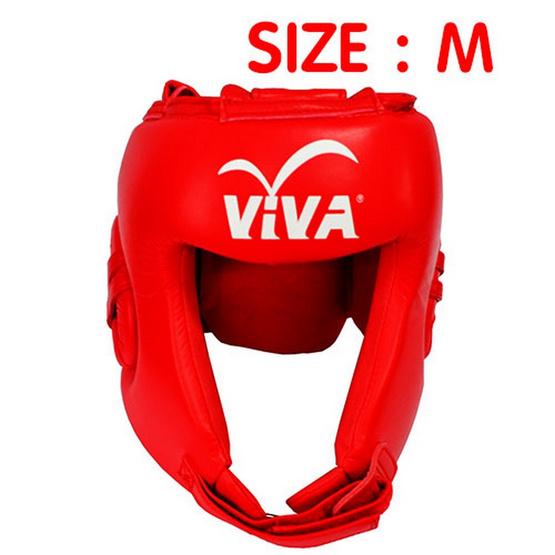 VIVA เฮดการ์ดมวย Micro Fiber สีแดง Size. M