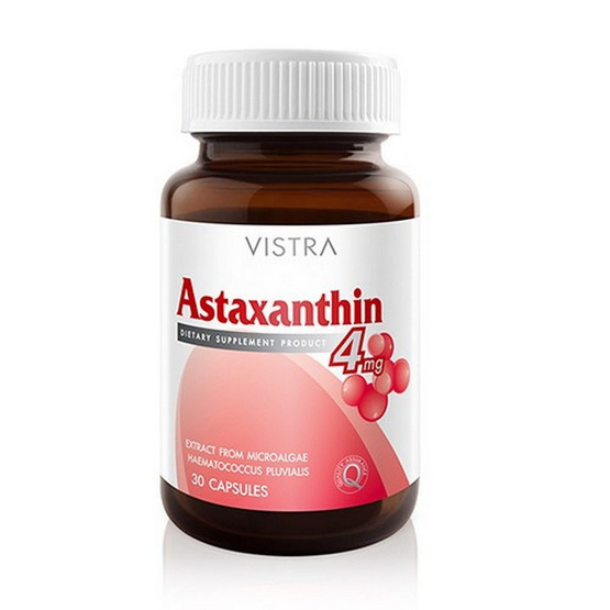 Vistra Astaxanthin Plus Vitamin E แอสตาแซนธิน 4 มก. บรรจุ 30 แคปซูล