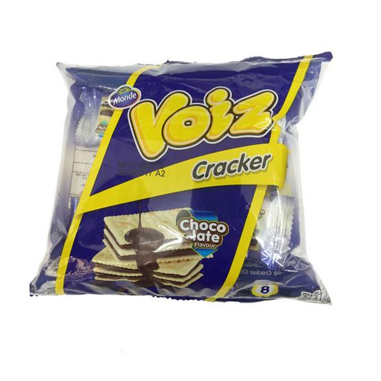 Voiz วอยซ์ แครกเกอร์ สอดไส้ครีม รสช็อกโกแลต ขนาด 80 g. (12 ชิ้น)