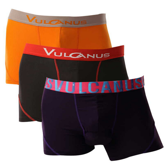 Vulcanus กางเกงในชาย เซ็ท 3 ดำ ม่วง ส้ม