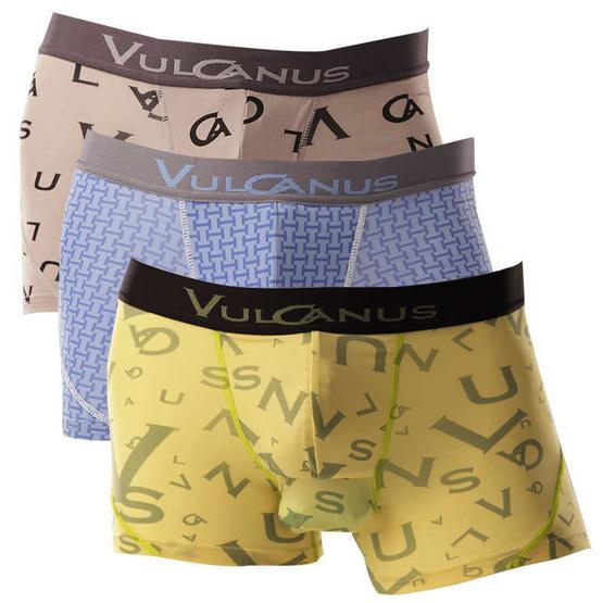 Vulcanus กางเกงในชาย เซ็ท 3 เหลือง เทา ฟ้า