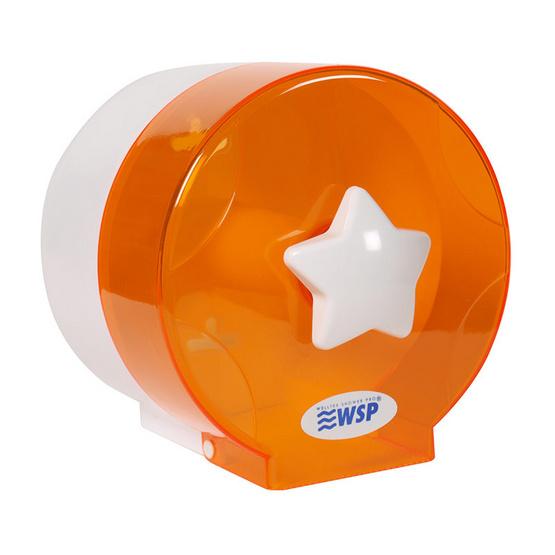 WSP กล่องใส่ทิชชู่ แบบม้วนเล็ก สีส้ม
