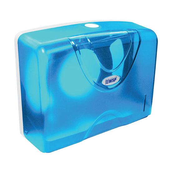 WSP กล่องใส่ทิชชู่ กล่องทิชชู่ติดผนังแบบแผ่น สีฟ้า