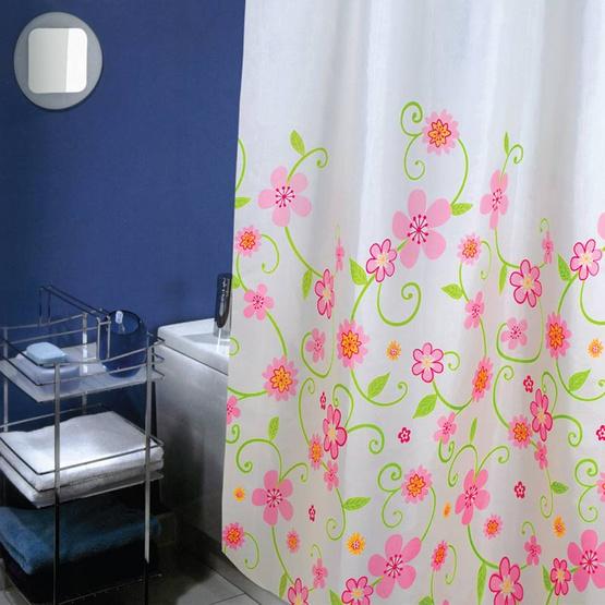 ซื้อ WSPม่านห้องน้ำเนื้อผ้าไนล่อน 100% พิมพ์ลาย ขนาด 180x180 ซม.ลาย SO SWEETY
