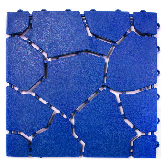 WSP BM-65 สีน้ำเงิน แผ่นกันลื่นสารพัดประโยชน์ รุ่น ลายหินใหญ่