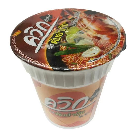 Wai Wai ไวไว ควิกคัพ แสบ บะหมี่กึ่งสำเร็จรูป รสต้มยำกุ้ง (ถ้วย) ขนาด 60 g. (6 ชิ้น)