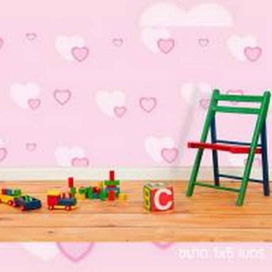 Wallpaper ป้องกันความร้อน ลาย HEART PINK ขนาด 1x5 เมตร