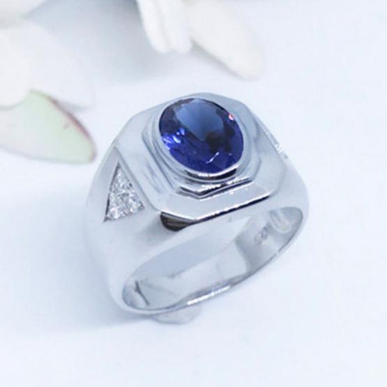 Winnie Jewelry แหวนแซฟไฟร์ (ชาย)