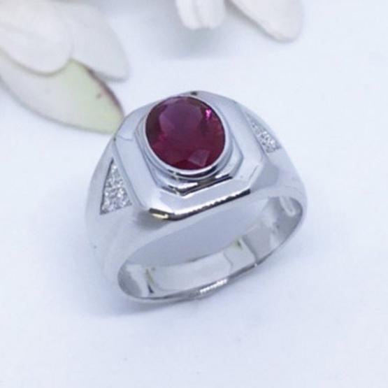 Winnie Jewelry แหวนพลอยแดง (ชาย)