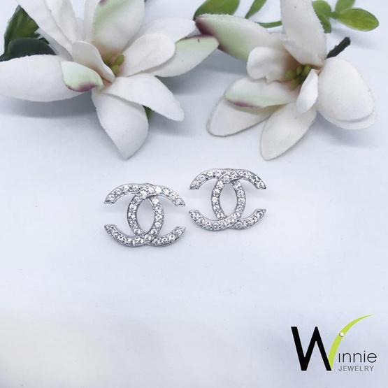 Winnie Jewelry ต่างหูไดมอนด์ซี