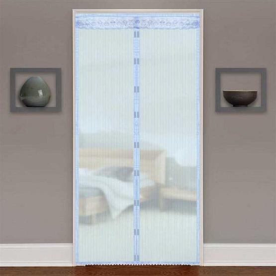 Wsp ม่านประตูกันยุงและแมลง ขนาด 90 X 210 ซม./สีฟ้า