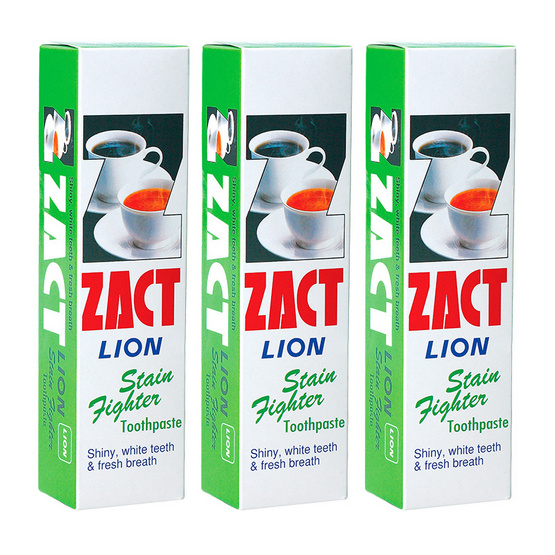 Zact Toothpaste 160g # Stain Fighter Pack3