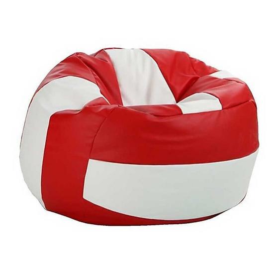 โซฟาเม็ดโฟมบีนแบ็กรุ่นวอลเล่ย์บอลขาว-แดง