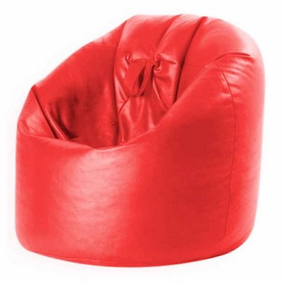 เก้าอี้บีนแบคหนังเทียมทรงหยดน้ำพร้อมหูหิ้ว