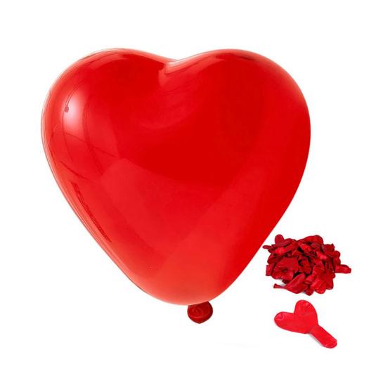 ลูกโป่งหัวใจ 10 นิ้ว 30 ลูก (สีแดง)