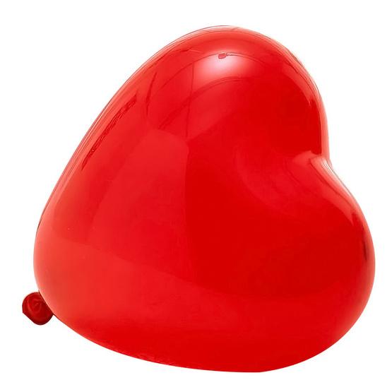 ลูกโป่งหัวใจ 11 นิ้ว 100 ลูก แดงมุก