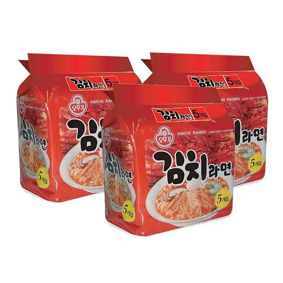 บะหมี่กึ่งสำเร็จรูป โอโตกิ กิมจิ ราเม็ง ขนาด 120 กรัม (แพ็ค 5)  (แพ๊คคู่ ราคาพิเศษ)