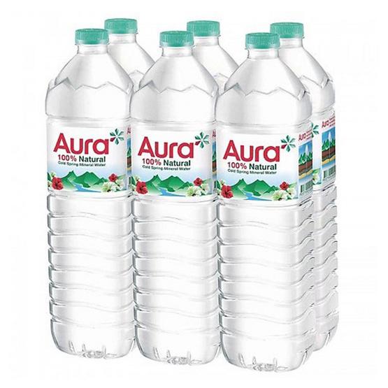 ซื้อ ออร่า น้ำแร่ขวด 1500 มล. (แพ็ค 6 ขวด)