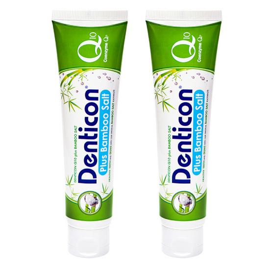 ซื้อ เดนติคอน ยาสีฟัน คิวเท็น พลัส แบมบูซอลท์ 150 กรัม (แพ็ค 2 ชิ้น)