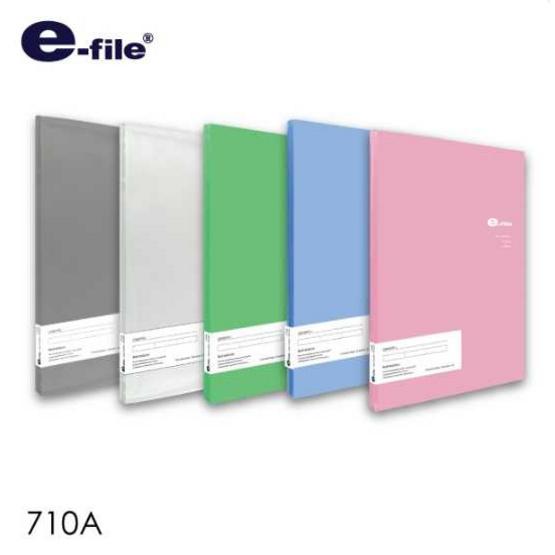 ซื้อ แฟ้มโฮลเดอร์ 20 ซอง ปกสอด e-file  (1x12ชิ้น)  คละสี