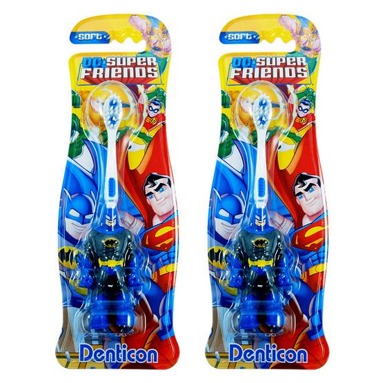 ซื้อ เดนติคอน แปรงสีฟัน ซุปเปอร์ฮีโร่ คิดส์ แบทแมน (แพ็คคู่ 2 ชิ้น)
