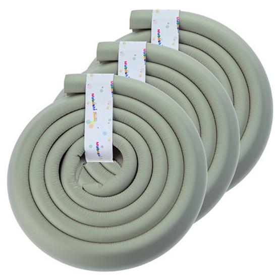 โฟมยางกันกระแทกสำหรับเด็ก ความยาว 2 เมตร Soft Edge Cushion Strip สีเทา (แพ็ค 3 ม้วน)