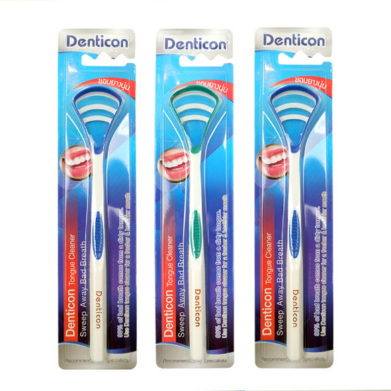 ซื้อ เดนติคอน ที่ขูดลิ้นเดนติคอนด้ามยาว (แพ็ค 3 ชิ้น)