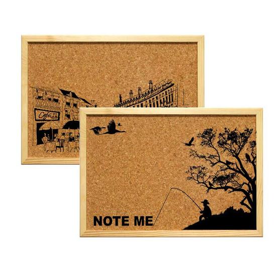 กระดานไม้ก๊อกขอบไม้ พิมพ์ลาย (ขนาด 40x60 ซม.)