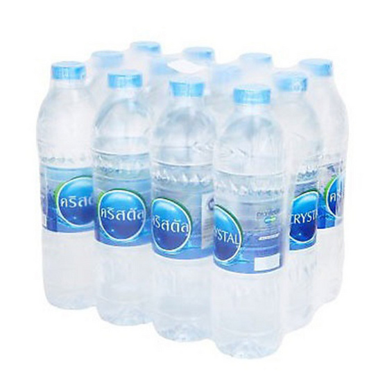 ซื้อ คริสตัล น้ำดื่มขวด 600 มล. (แพ็ค 12 ขวด)