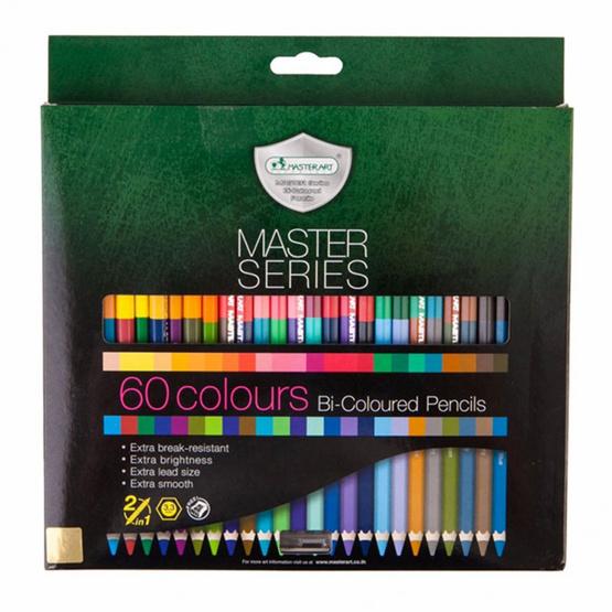 ซื้อ ดินสอสีมาสเตอร์อาร์ต 60 สี2 หัว